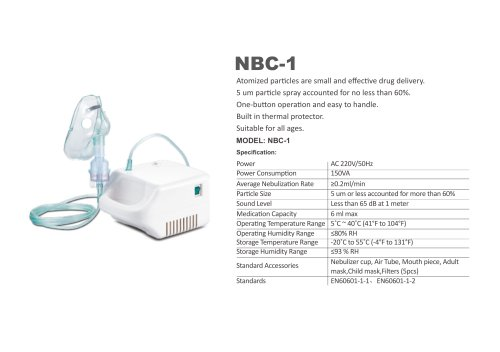 SIMZO NEBULIZER WITH COMPRESSOR  NBC-1