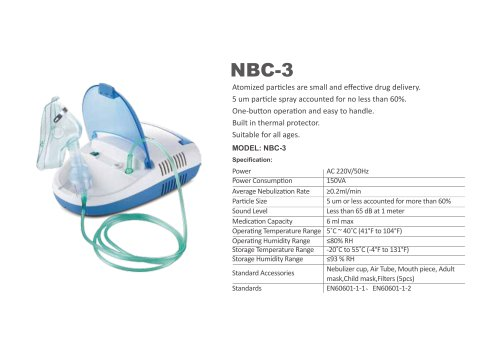 SIMZO NEBULIZER WITH COMPRESSOR  NBC-3