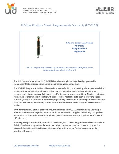 Programmable Microchip (UC-2112)