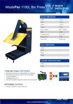 WastePac 1100L Bin Press - 1