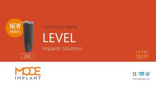 LEVEL implant series