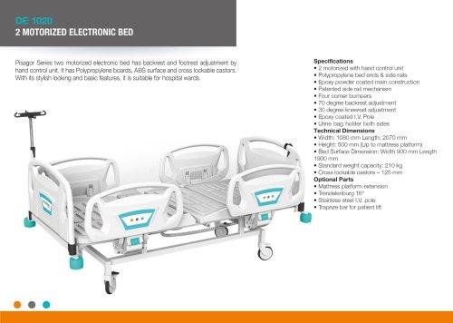 DE 1020 TWO MOTORIZED ELECTRONIC BED