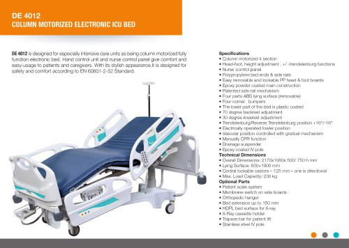 4 MOTORIZED ELECTRIC HOSPITAL BED