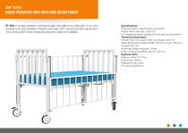 BASIC PEDIATRIC BEDS WITH ONE ADJUSTMENT