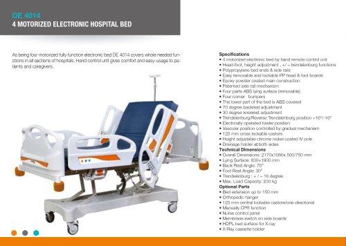 COLUMN MOTORIZED ELECTRIC ICU BED