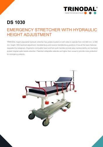EMERGENCY STRETCHER WITH HYDRAULIC HEIGHT ADJUSTMENT