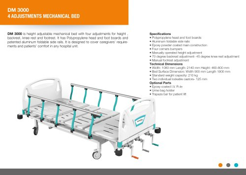 FOUR ADJUSTMENTS MECHANICAL BED