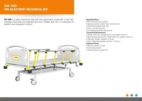 ONE ADJUSTMENT MECHANICAL BED BACKREST
