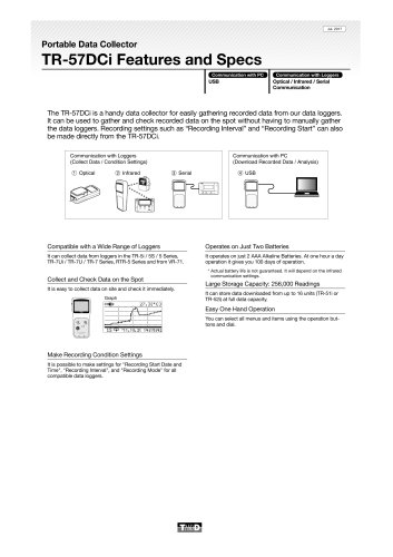 Portable Data Collector TR-57DCi Features and Specs