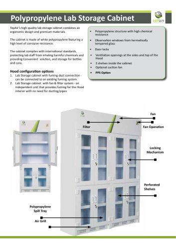 Polypropylene Lab Storage Cabinet