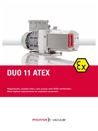 Duo 11 ATEX - Two-stage Rotary Vane Pumps