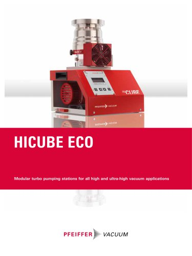HiCube Eco Turbo Pumping Stations