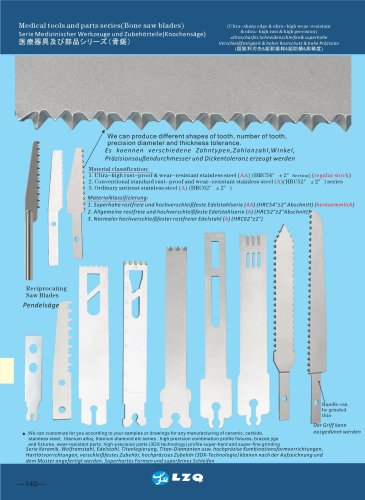 bone saw blades