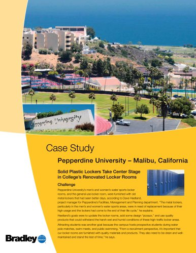 Plastic Lockers - Pepperdine University - Malibu, CA