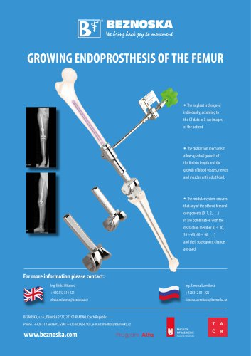 GROWING ENDOPROSTHESIS OF THE FEMUR