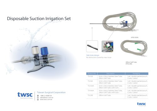 A3 - 2021 twsc Inno-Disposable Suction Irrigation Set
