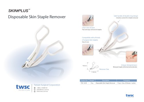 A3 - 2021 twsc Inno-Skinplus Disposable Skin Staple Remover