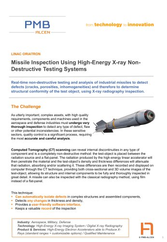 Missile Inspection Using High-Energy X-ray NonDestructive Testing Systems