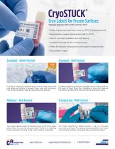 CryoSTUCK® Cryogenic Labels for Frozen Surfaces