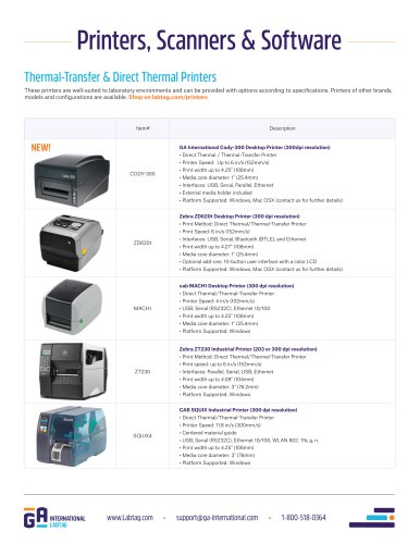 Printers, Scanners, and Software