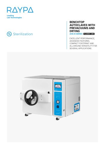 BENCHTOP AUTOCLAVES WITH PREVACUUMS AND DRYING - AHS-B SERIES