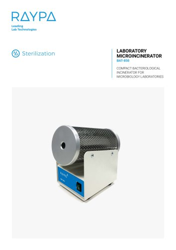MICROINCINERATOR FOR THE LABORATORY