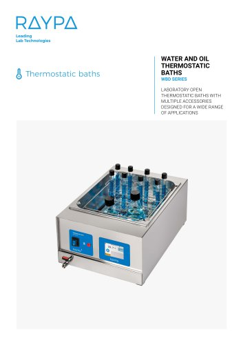 THERMOSTATIC BATH FOR THE LABORATORY - WBD SERIES