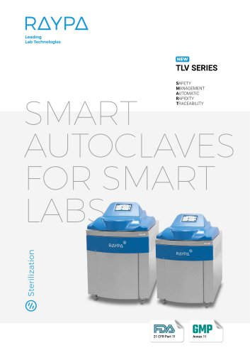 TLV SERIES: TOP LINE VERTICAL AUTOCLAVES
