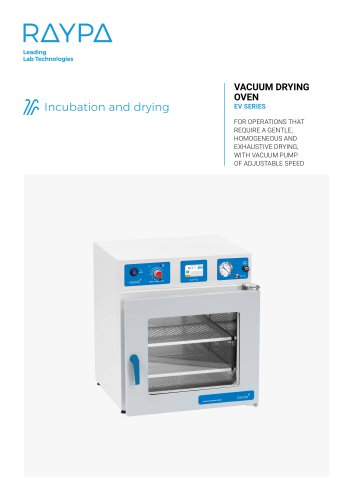 VACUUM DRYING OVEN - EV SERIES