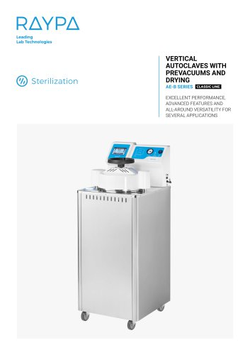 VERTICAL AUTOCLAVES WITH PREVACUUMS AND DRYING - AE-B SERIES