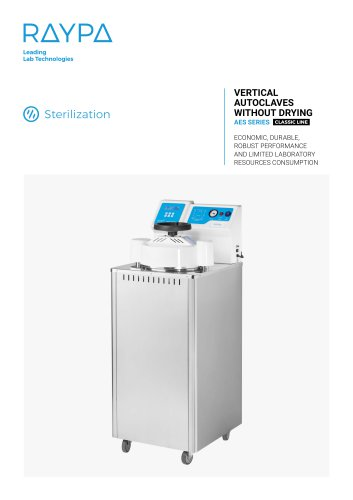 VERTICAL AUTOCLAVES WITHOUT DRYING - AES SERIES