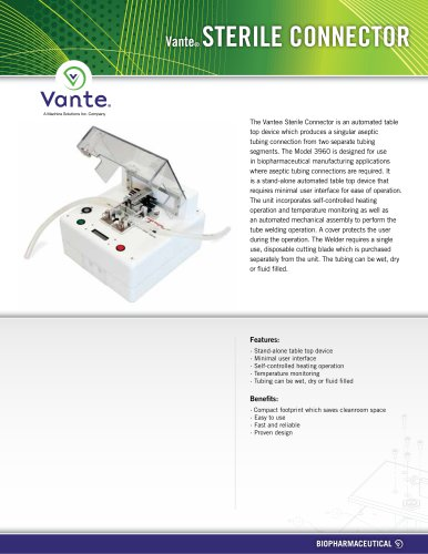 Vante 3960 Sterile Tube Connector