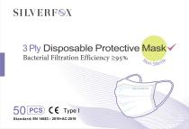 3 plys medical mask with CE type I