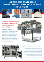 HAZARDOUS MATERIALS CONTAINMENT AND PROCESSING SOLUTIONS