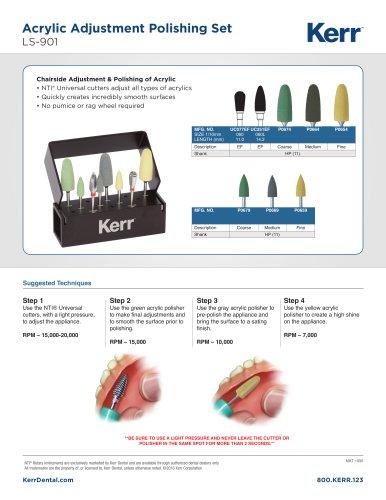 Acrylic Adjustment Polishing Set - LS-901