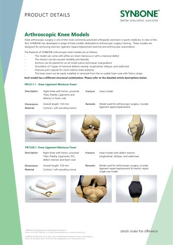 Arthroscopic Knee Models
