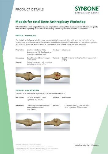 Models for total Knee Arthroplasty