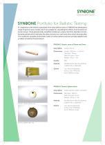 SYNBONE Portfolio for Ballistic Testing - 1