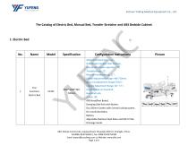 The Catalog of Transfer Stretcher, Electric Bed, Manual Bed and ABS Bedside Cabinet-Yufeng Medical