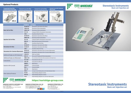 Stereotaxic Instruments Basic set/ Injection set