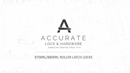 8700RL/8800RL ROLLER LATCH LOCKS
