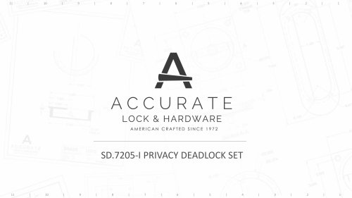 SD.7205-I PRIVACY DEADLOCK SET