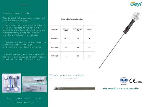 Disposable veress needle - Geyi Medical