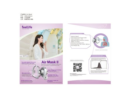 Air Mask II Portable Mesh Nebulizer