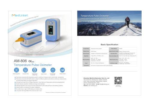 AM-806 Temperature Pulse Oximeter