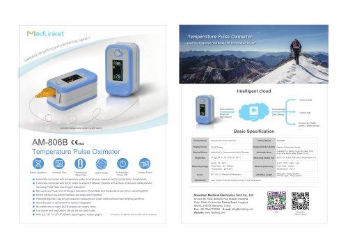 AM-806B Temperature Pulse Oximeter 2020
