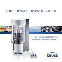 BUBBLE PRESSURE TENSIOMETER – BP100
