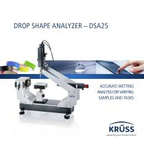 DROP SHAPE ANALYZER – DSA25