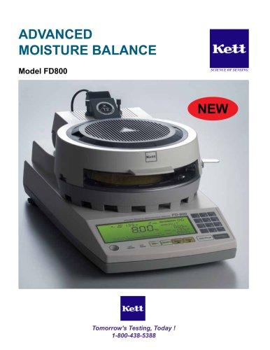 FD800 Dual Temperature Control Moisture Balance