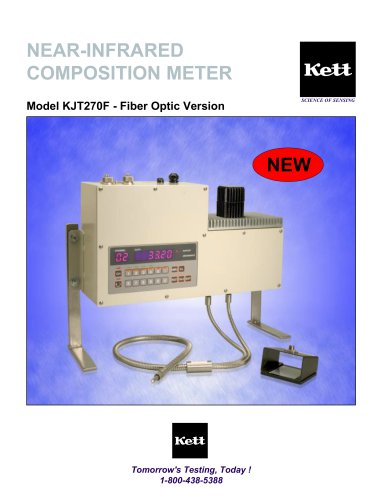 NEAR-INFRARED COMPOSITION METER Model KJT270F - Fiber Optic Version